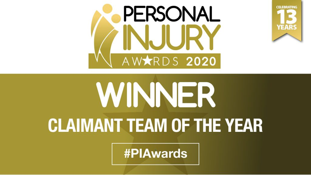 HCC Solicitors - Claimant Team of the Year Personal Injury Awards 2020